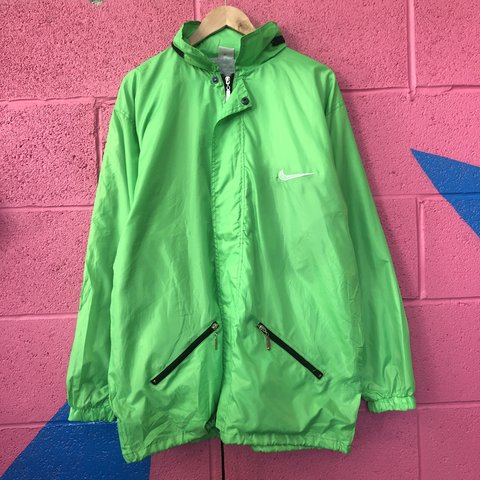 6c7bfba220f5 VINTAGE NEON NIKE AIR WINDBREAKER JACKET RED AND GRAY 10 10 - Depop