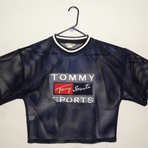 9e92fc463e2 Rare Vintage Mesh Tommy Sports Top! Super cute and also in - Depop