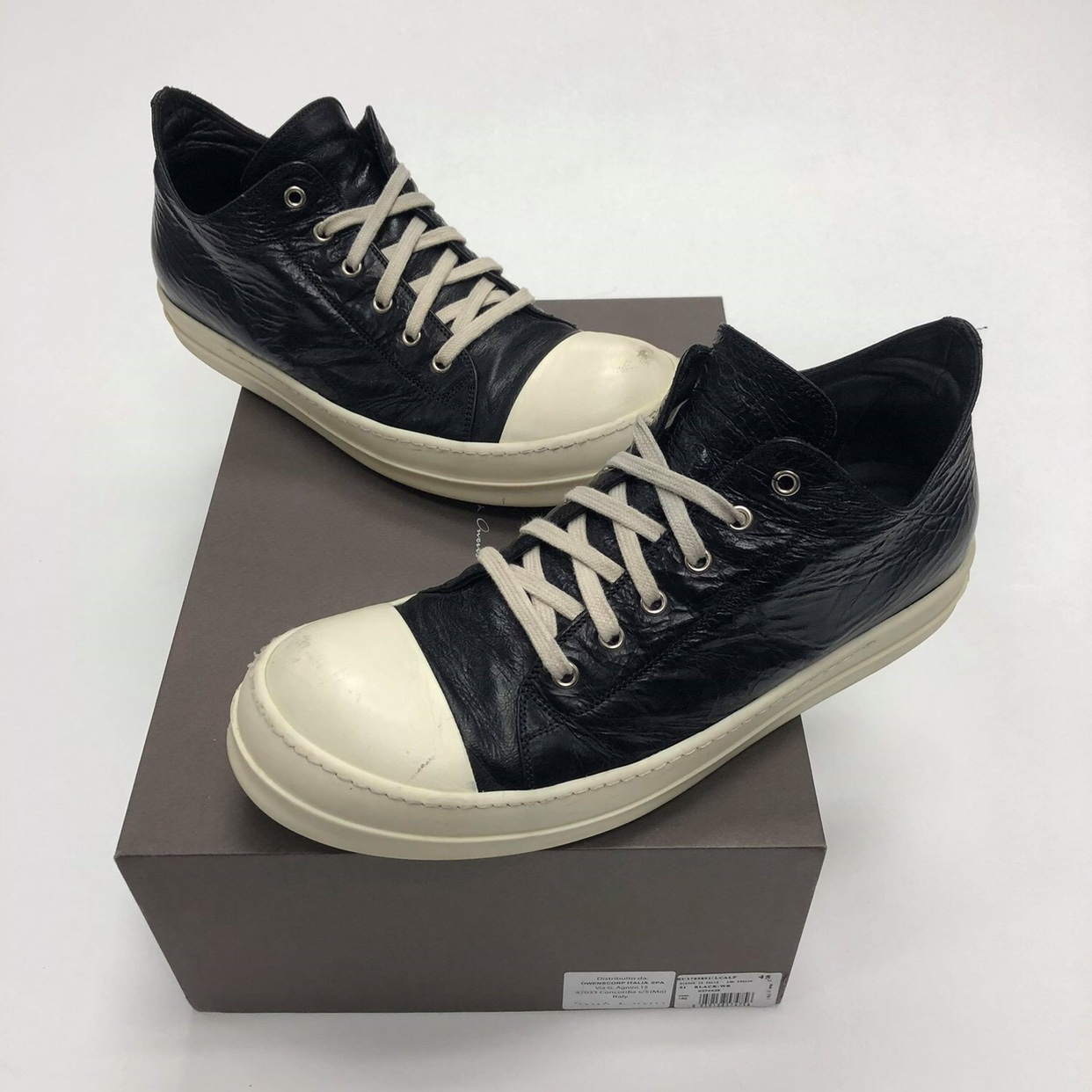 S/S 2017 Rick Owens Low Cracked Leather