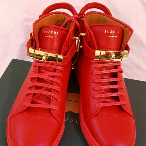 8d5a082b0 @mmorello. 3 years ago. Men Jon buscemi 110mm red designer sneakers brand  new boxed ...