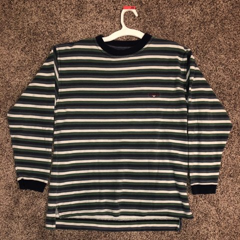 d4f5d730a671 @tikolawrence. 4 months ago. Ogden, United States. no stains great condition  90's guess jeans usa striped long sleeve ringer tshirt