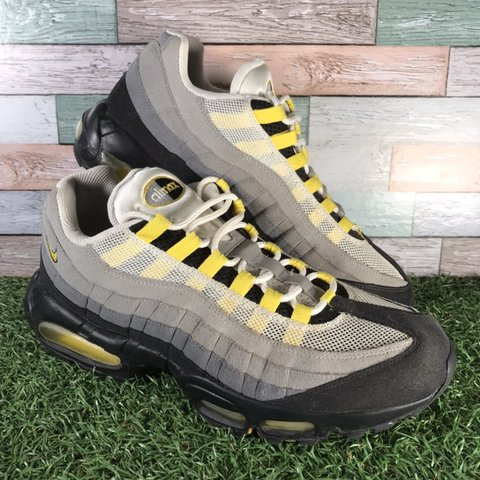 2386e39d5fd86 @wallysshedvintage. 8 months ago. Chelmsford, United Kingdom. Nike Air Max  95 Trainers Grey, Black & Yellow Colours 609048-105