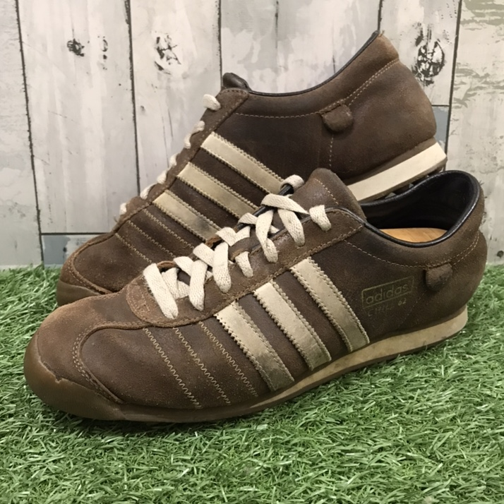 Retro Style Adidas Chile 62 Brown Suede Trainers, UK...