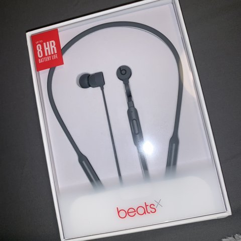 5e46e91718a Grey Beatsx wireless earphones, not been opened therefore in - Depop
