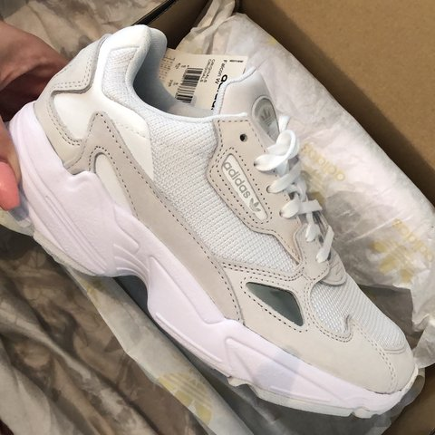771ff6d2866 Adidas Falcon All white. Streetstyle best seller of fall and - Depop