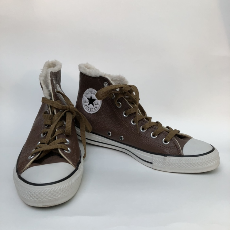 REDUCED CONVERSE CHUCK TAYLOR ALL STARS LEATHER FUR Depop