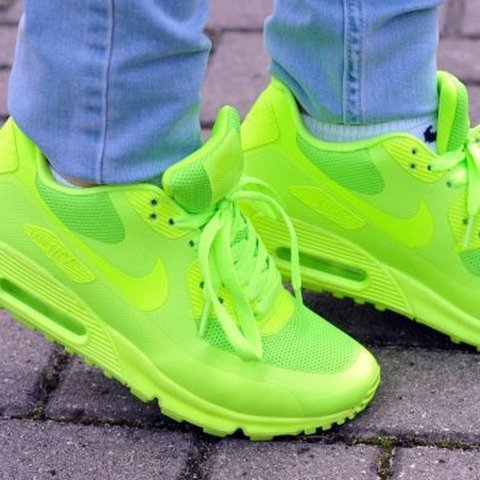 81ee2c3bc85 Air Max 90 Hyperfuse Volt Pretty worn some scuffs on the but - Depop