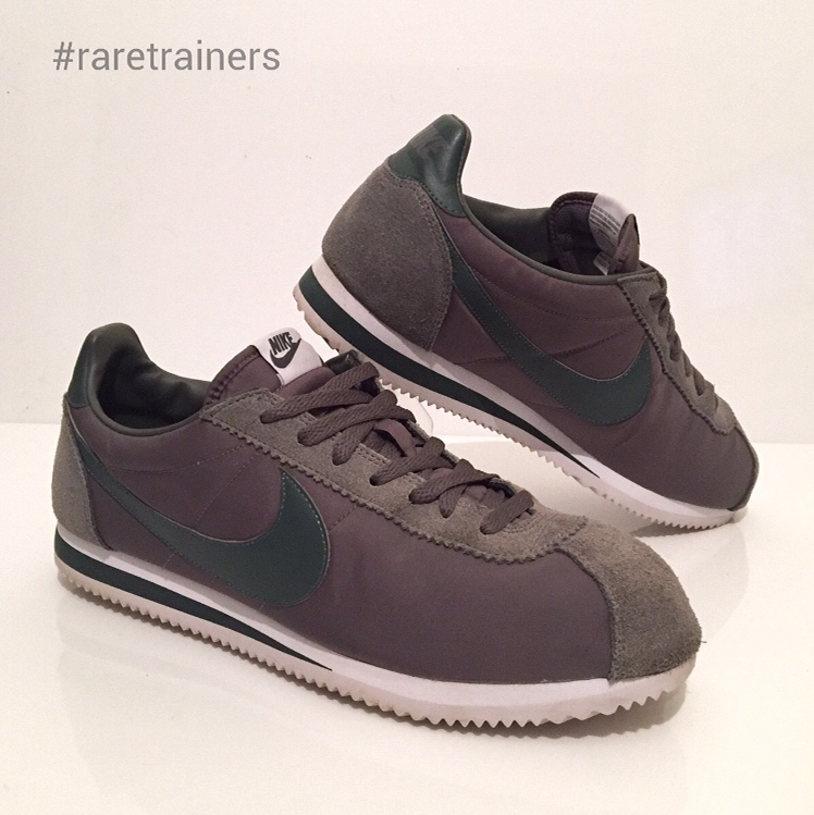 buy popular 7efce a2511 Nike Cortez Mens Trainers Green Size 11 Suede Nylon ...