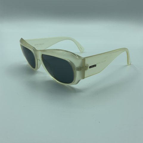 db01cba0332a6 Wavey translucent Gianni Versace sunglasses in good Model to - Depop