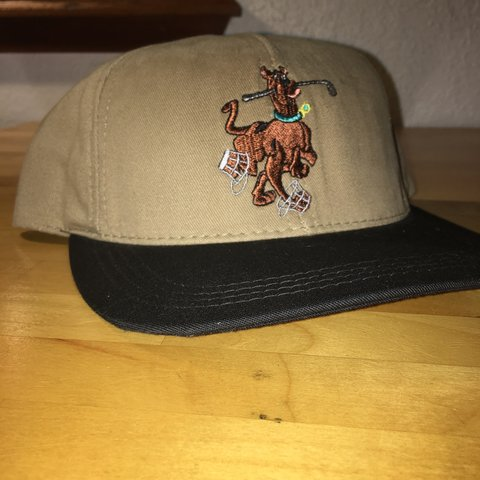 6dcfb8f65793aa Vintage Scooby-Doo Strapback brown with a leather strap ! - Depop