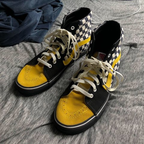 ab71416e7a Custom vans. Barely worn. Yellow tongue is Suede