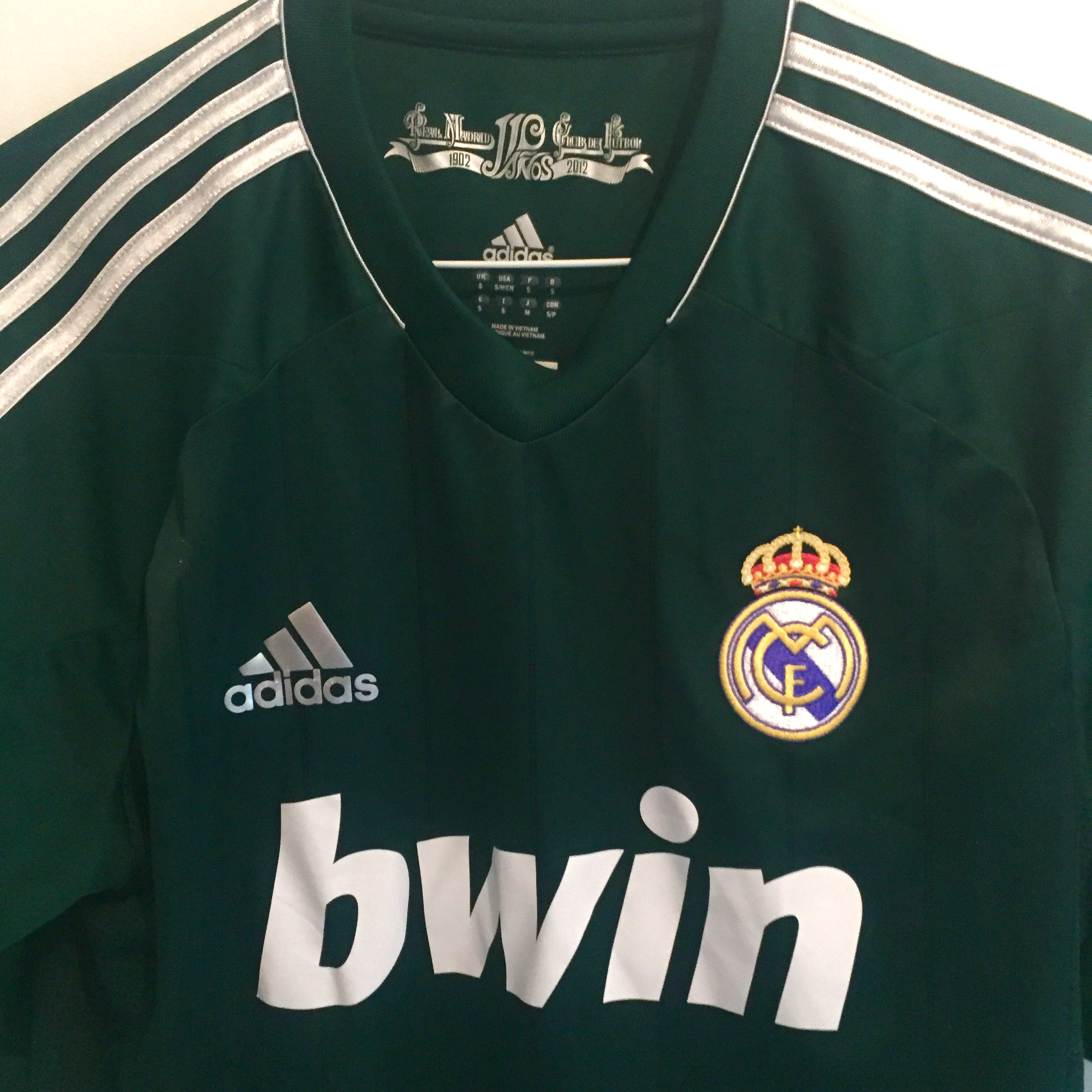 promo code 7ad5f ac108 Real Madrid 2012-13 Away Football Shirt with... - Depop