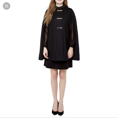 ab1586dae5c2 Ted Baker cape in black. TUULIP. Size Small. Perfect for Ted - Depop