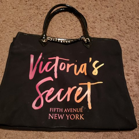 6cb355d52415a8 @angelbowler89. 9 months ago. San Bernardino, San Bernardino County, United  States. Victoria's Secret black tote bag with gold ...