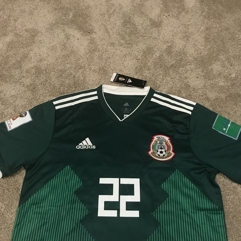 da7e3268a27 Hirving Lozano Mexico World Cup Green Jersey New Adidas in - Depop