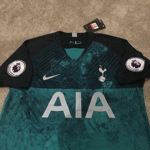 b8753178 @jersey_cvltvre. 5 months ago. Columbus, United States. Harry Kane  Tottenham Hotspur Green & Blue Jersey New Nike ...