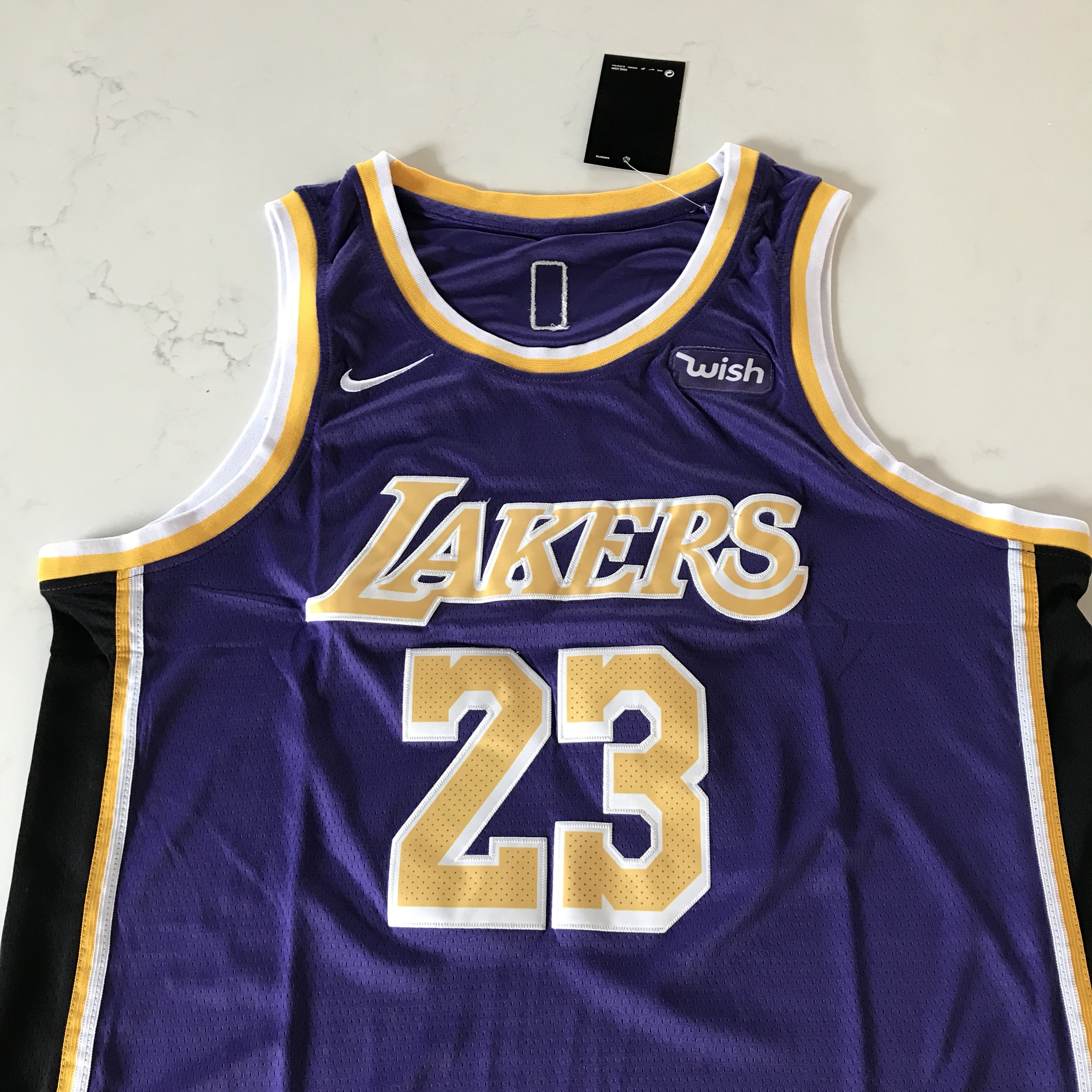 the latest e92f0 6445b LeBron James Los Angeles Lakers Purple Jersey New... - Depop