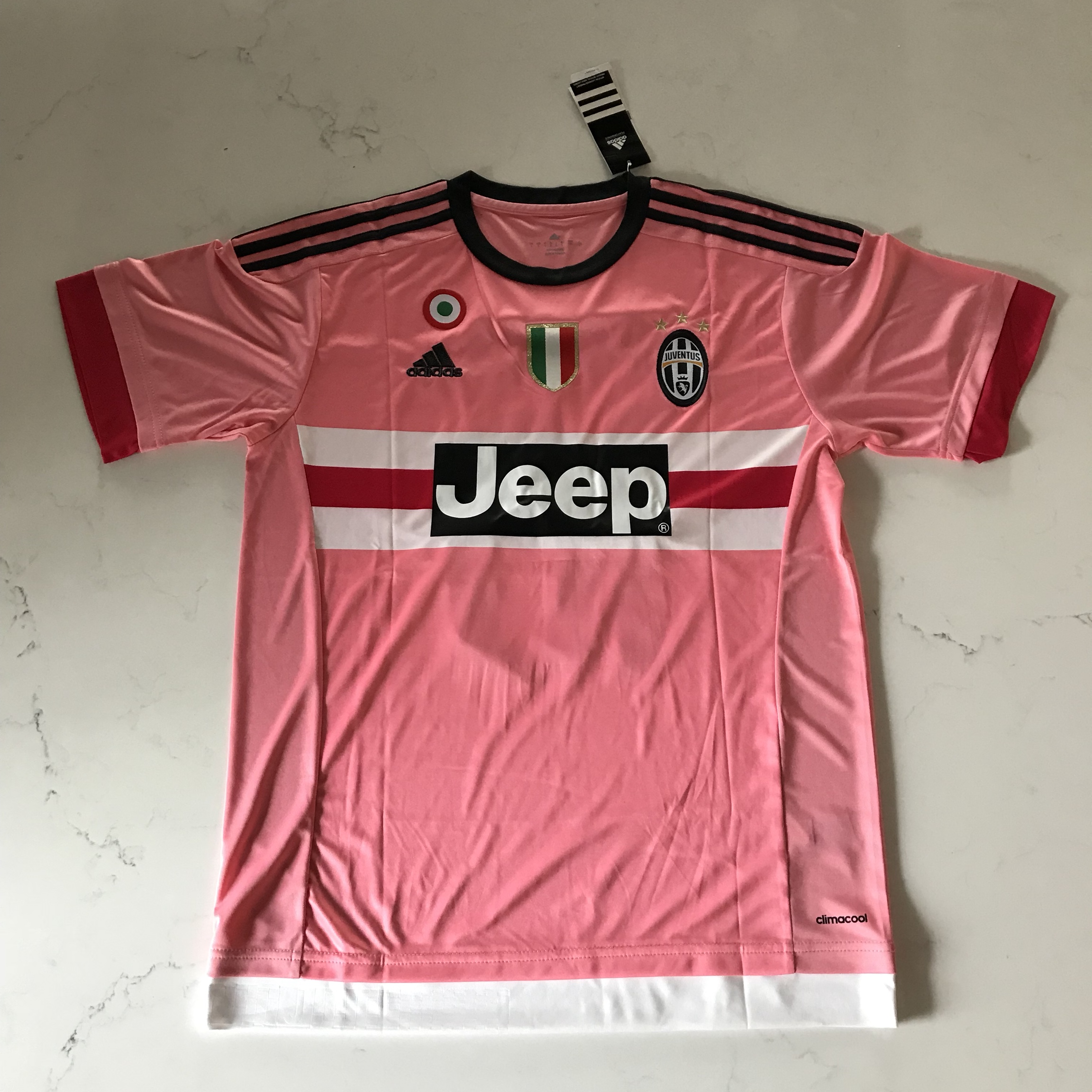 cheap for discount bee8f a180b Paul Pogba Juventus Pink Retro Jersey New Adidas... - Depop