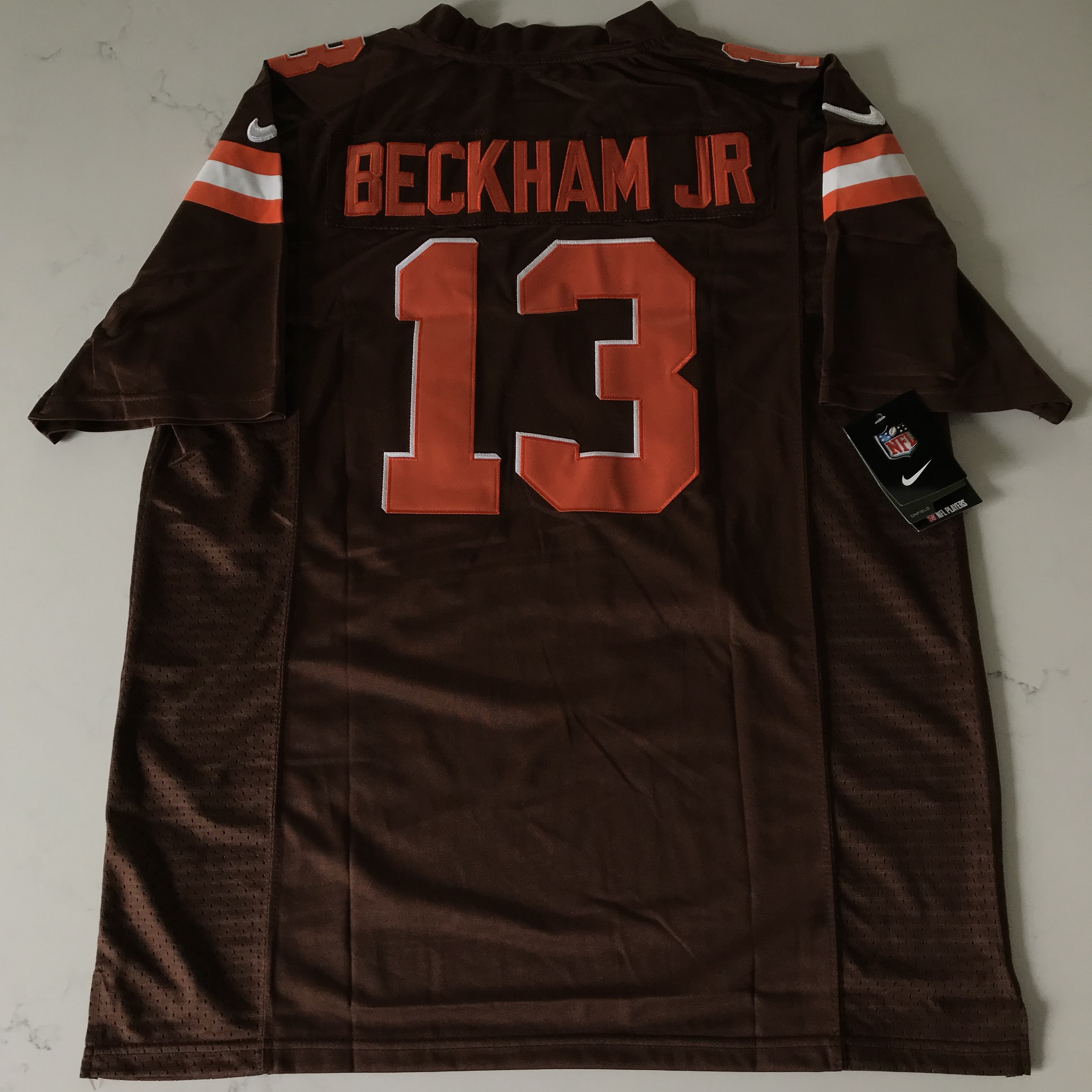 huge selection of ec7ac a6edd Odell Beckham Jr Cleveland Browns Brown Jersey New... - Depop