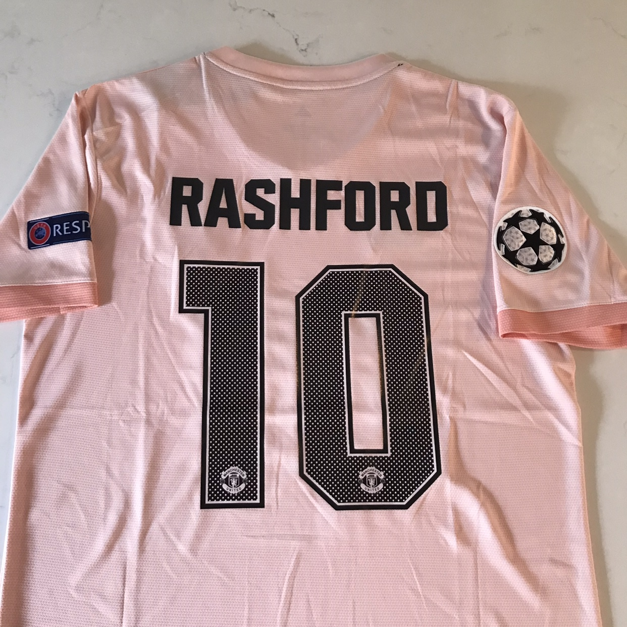 outlet store e88ea a1740 Marcus Rashford Manchester United Pink Jersey New... - Depop
