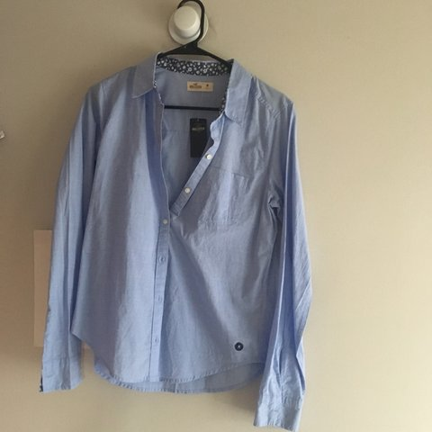 1ec5c2ee Light blue button up shirt perfect for work look. It has the - Depop
