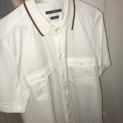 0a99fe230 @ryandwyer8. 7 months ago. Ormskirk, United Kingdom. Gucci Men's white  short sleeve shirt 42/16.5