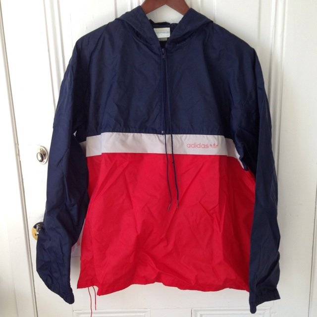 71b4b5175e51 Vintage Adidas Nylon Pullover Trainer. In excellent Red