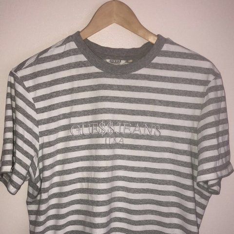 4655eab634 GUESS X ASAP ROCKY STRIPED TEE CONDITION - 9/10 NO FLAWS - - Depop