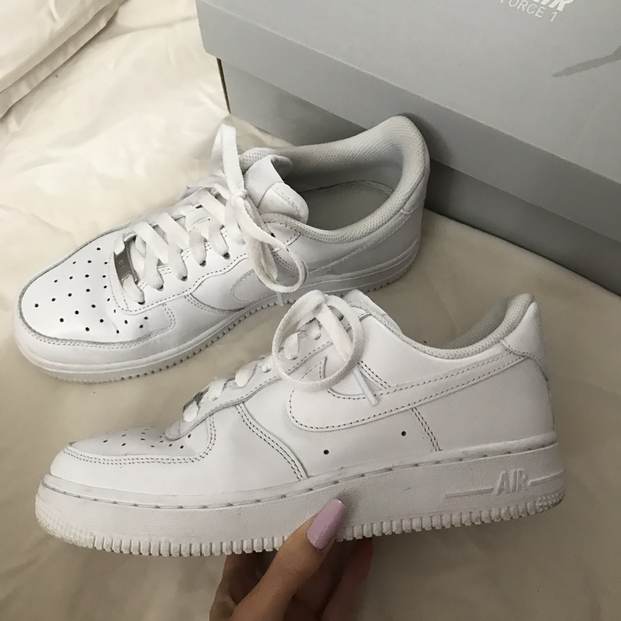 Nike Air Force 1 low white • size uk 4