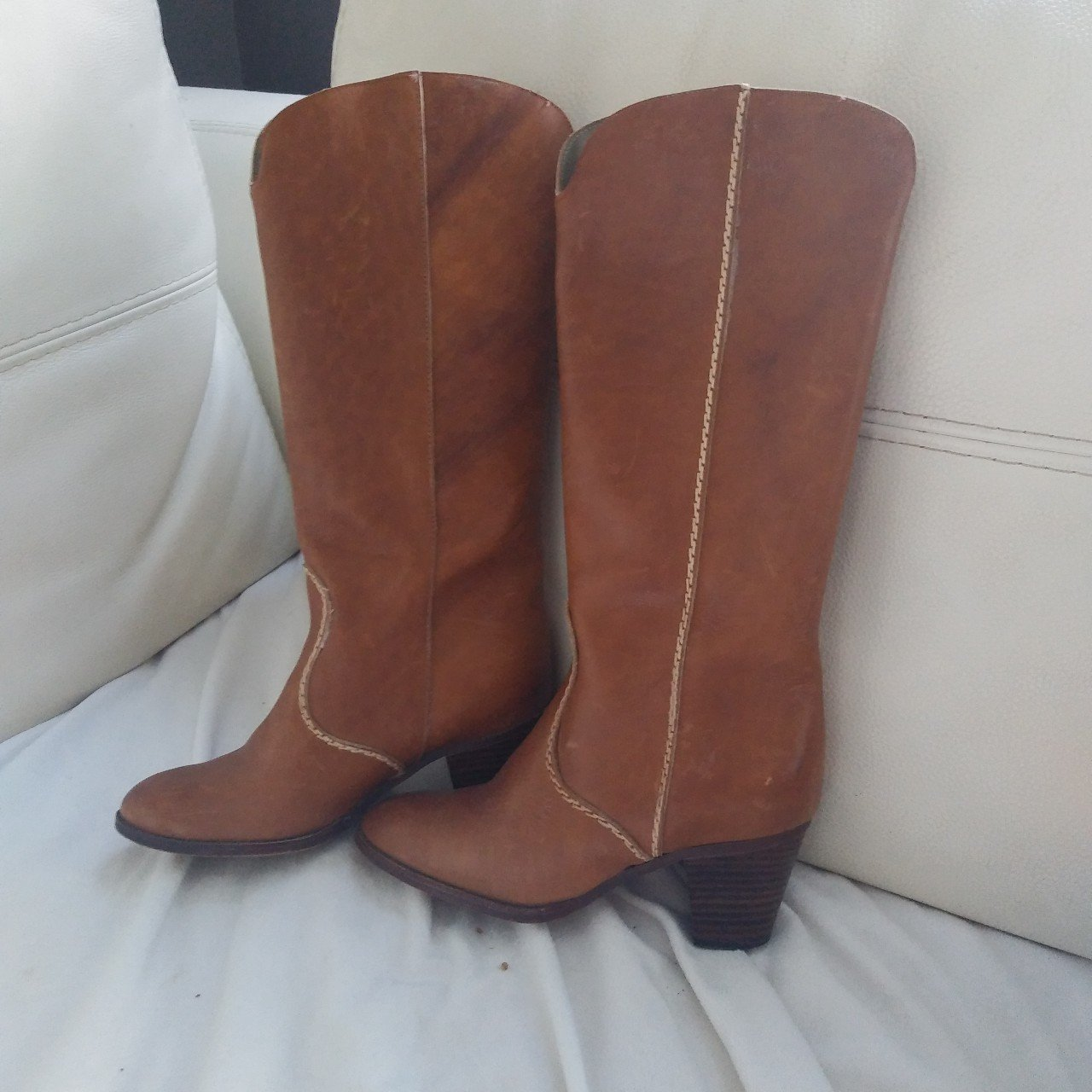 86db91daa Made in canada leather boots brand unknown as they are but depop jpg  1280x1280 Canada leather