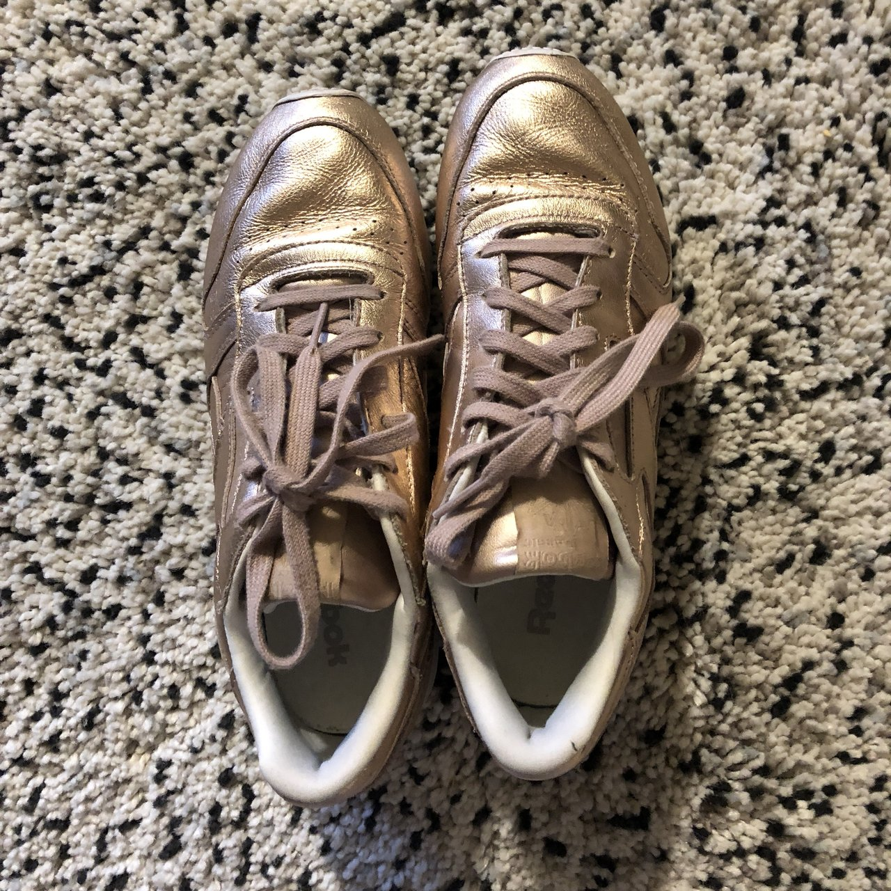 6c43bf96905bce NEVER WORN Reebok Club C Sneakers in Blush and Rose Gold. 6 - Depop