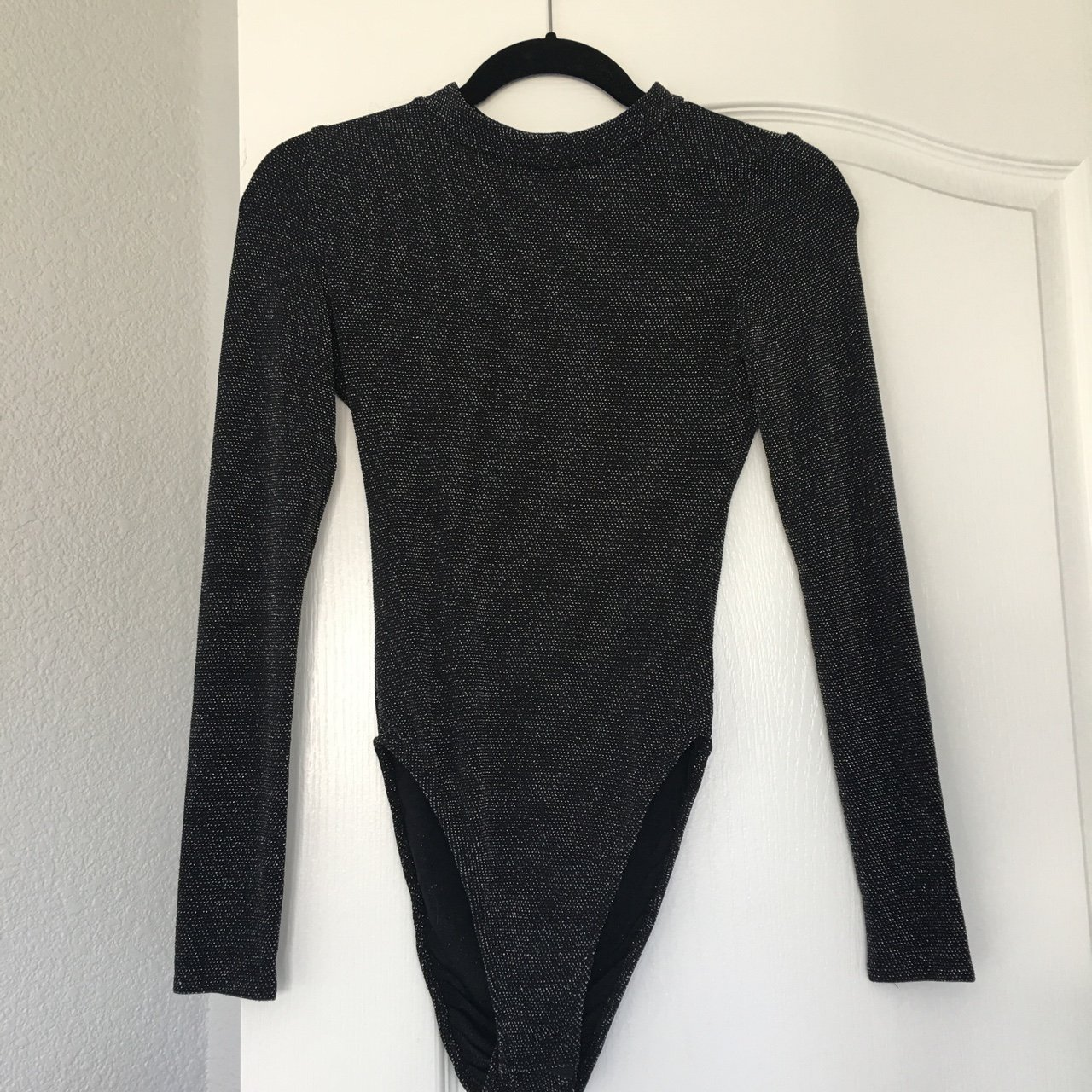 79f82cc5e9 Urban Outfitters black sparkly bodysuit.  25 · H M Divided Collection Mock  Neck