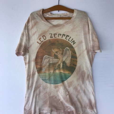 4dd89a1e28a Led Zeppelin Shirt Vintage tshirt 1970s Swan Song Tie Dye to - Depop