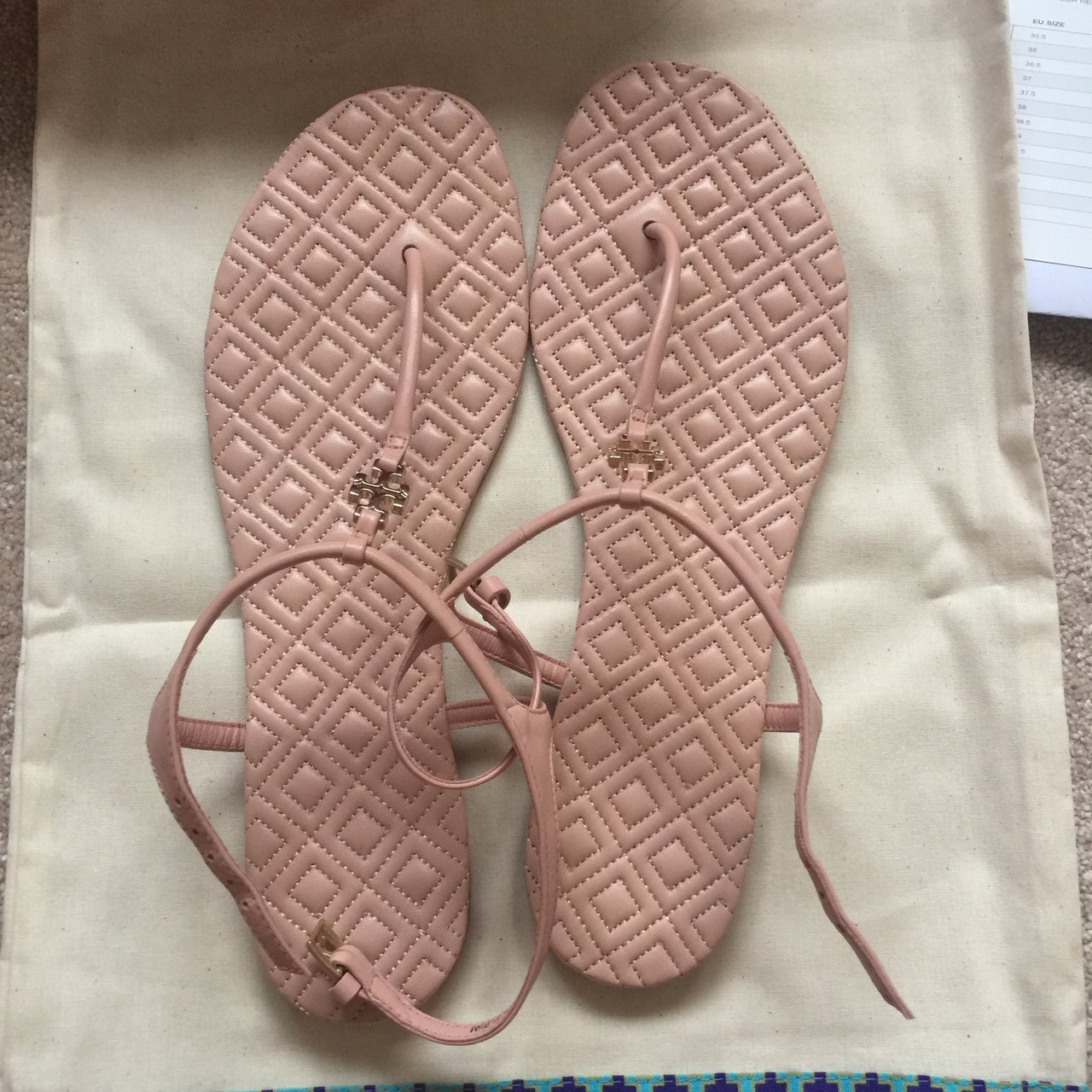 602f6a0adecce Tory Burch Marion quilted sandals. Minimal wear to the sole - Depop