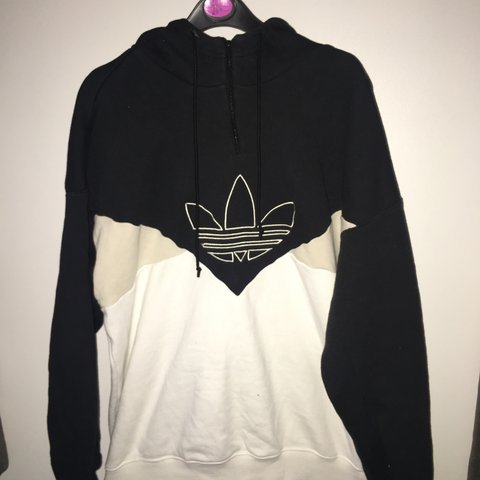 7e03f7780 @leahxxann. last month. Loughborough, United Kingdom. Size 8. Women's  Adidas hoodie, black and white