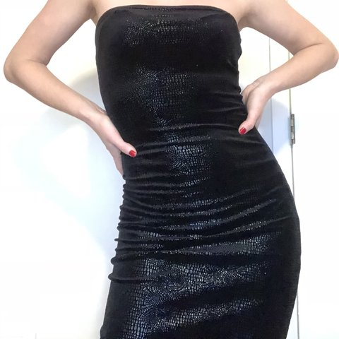 Guess Black Strapless Dress