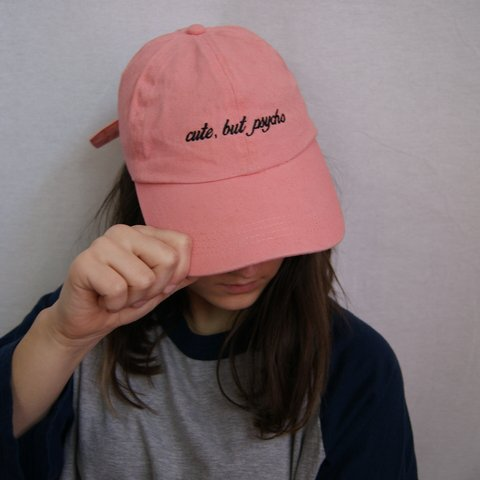 5b8e8ee6da841 ✘ CUTE BUT PSYCHO PEACH BASEBALL CAP ✘ Cute