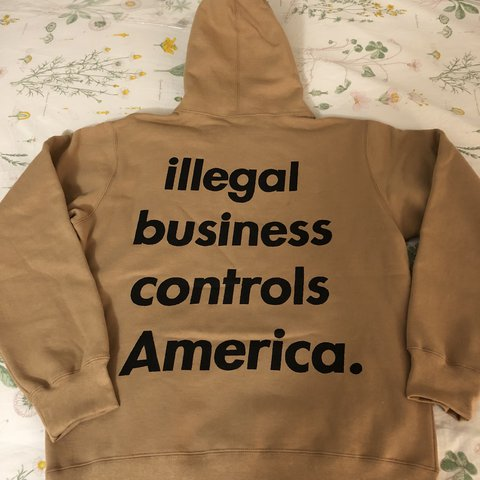 2aa555bac123 Supreme hoodie - illegal business control America 🇺🇸 Size - Depop