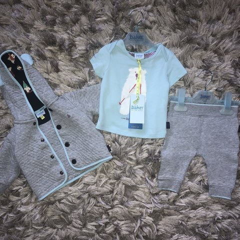 45129f5a1 Ted baker baby boy 3 piece set 0-3 months. Joggers and worn - Depop