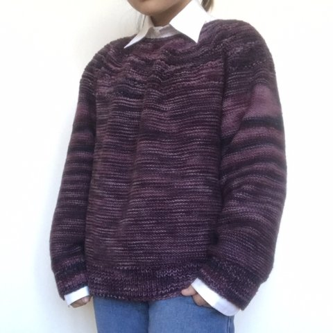 a3e0d1aed1 🌂 thrifted this fabulous purple sweater! a mix of beautiful - Depop