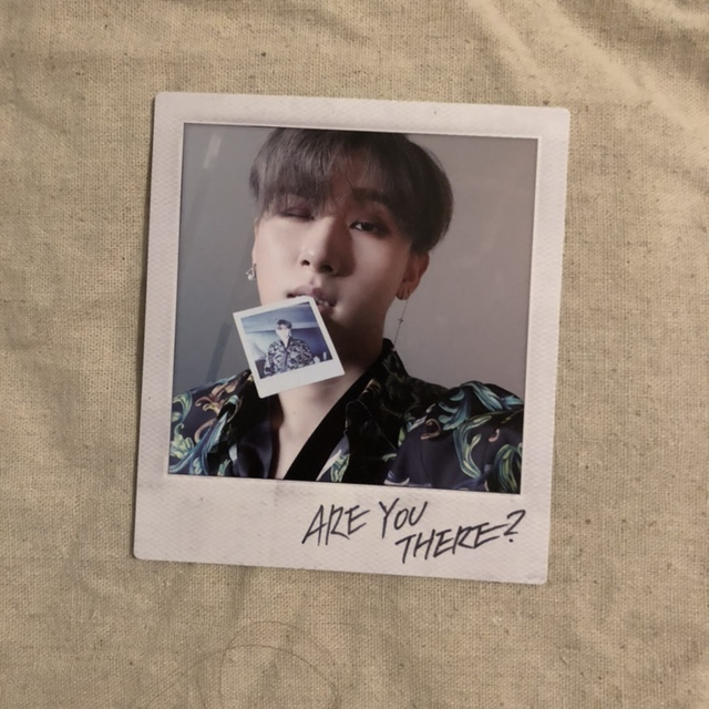 monsta x are you there? polaroid i m/changkyun $8 or    - Depop