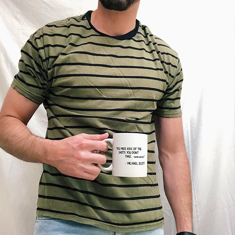 d4f3bc9c @thedwntwnlights. last month. Turlock, United States. Men's vintage striped  tee. Shirt is a sick olive green ...