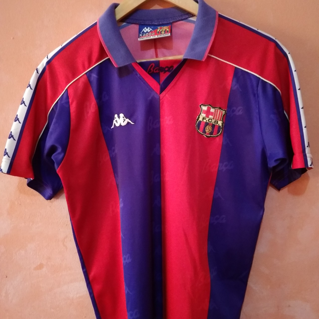 new arrival 6ad09 12483 Vintage FC BARCELONA 1992 - 1995 Home KAPPA Jersey ...