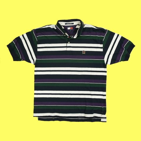 7cbcdd42 @goneagainvintage. 24 days ago. Vancouver, Canada. Vintage Tommy Hilfiger  striped polo ...