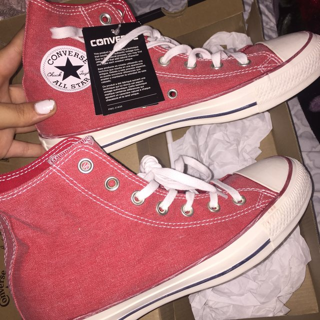 Stonewashed Red Converse Chuck Taylor