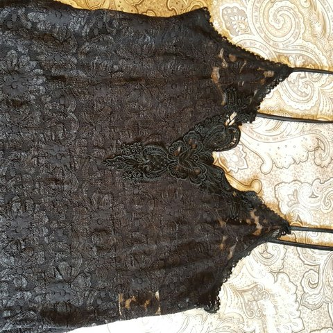 Vintage California Dynasty Black Lace Intimates  383aa67e0