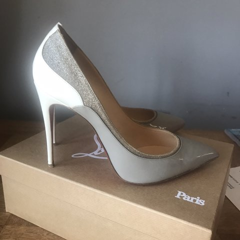 52fbc0105 @neelymay. 4 months ago. Peacehaven, United Kingdom. Stunning rare Christian  Louboutin Tucsick heels.