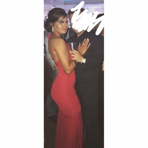 1a586a2e6e8f2 @elrichxoxo. 7 months ago. Hereford, United Kingdom. Red backless evening  gown. Worn once for night time of wedding fits lovely