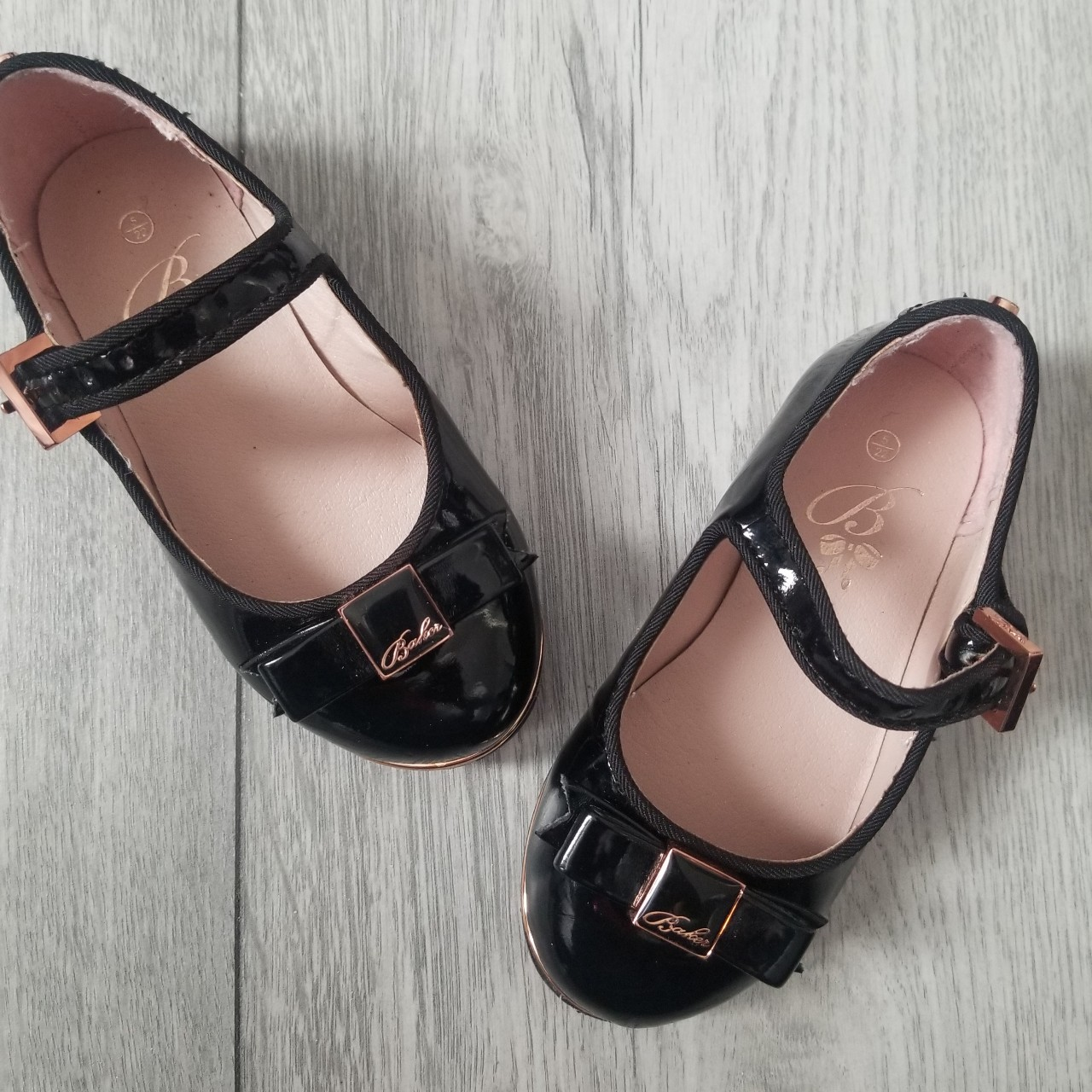 Patent Ted Baker dolly shoes in infant