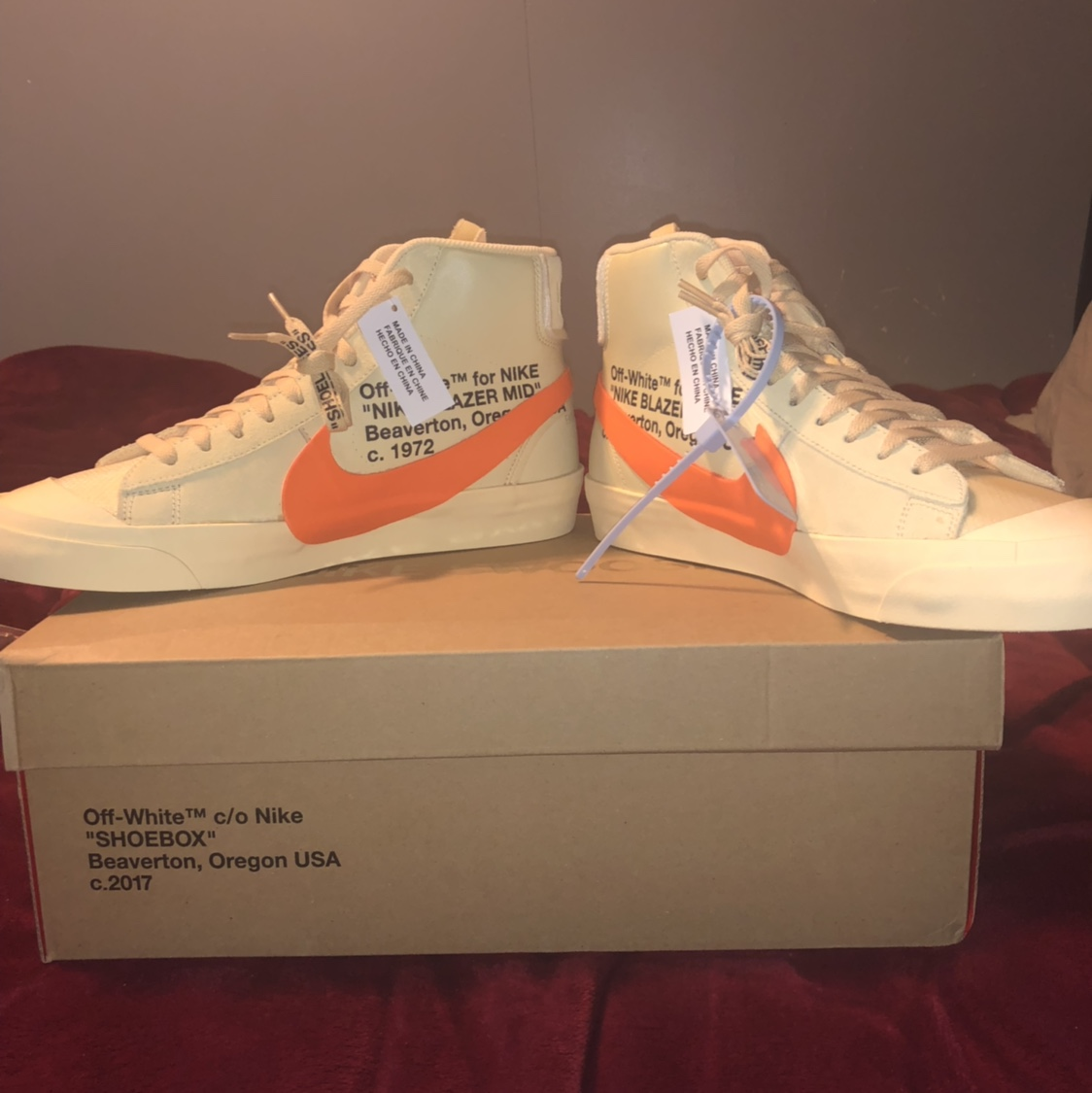 used off white blazers